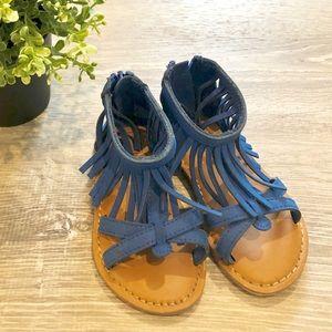 GAP Blue Fringe Sandal Toddler Girl Size 7